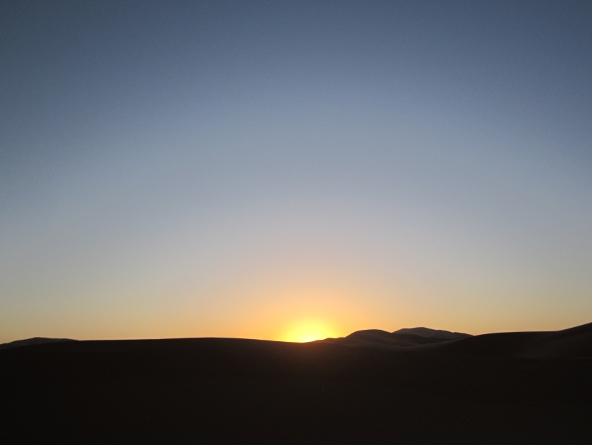 sunrise sahara