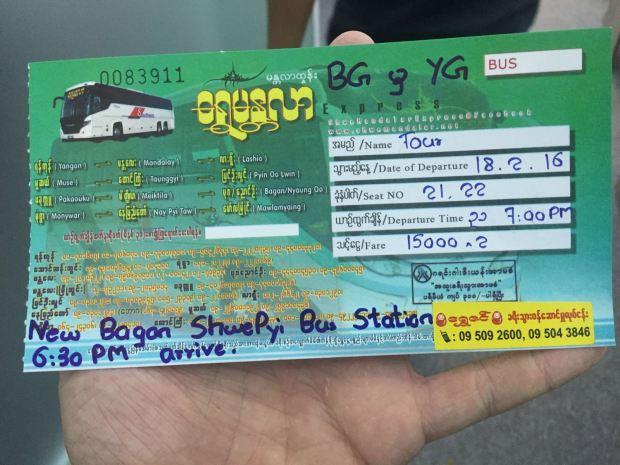 myanmar night bus