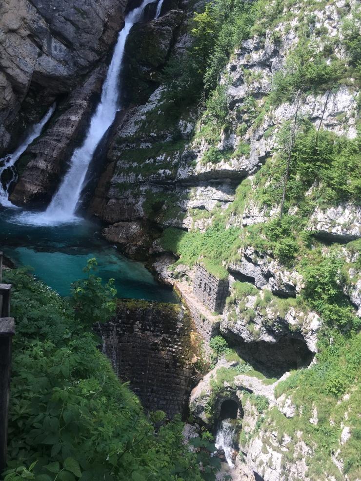slovenia waterfall